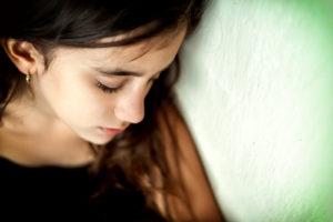 image of a sad girl